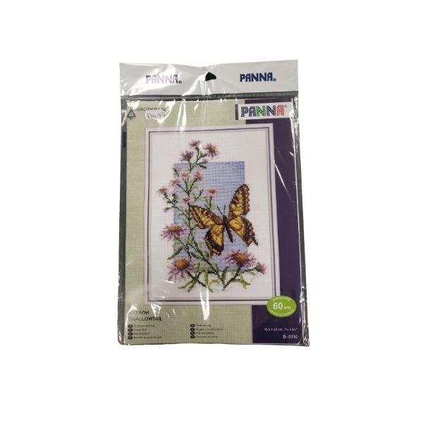panna butterfly cross stitching kit