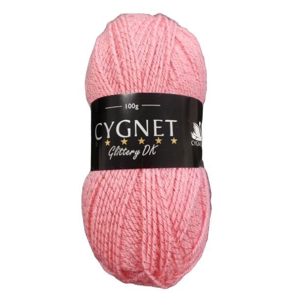 Cygnet glittery dk yarn pink
