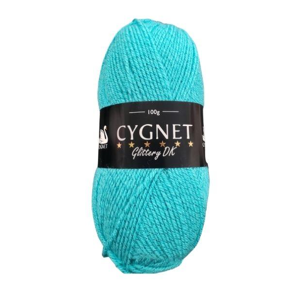 Cygnet Glittery DK Turquoise yarn