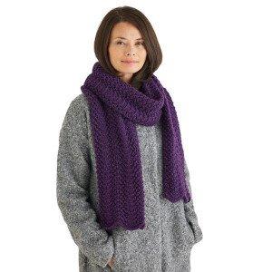 Hayfield bonus glitter pattern - scarf